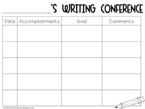 what the teacher wants writing conferences