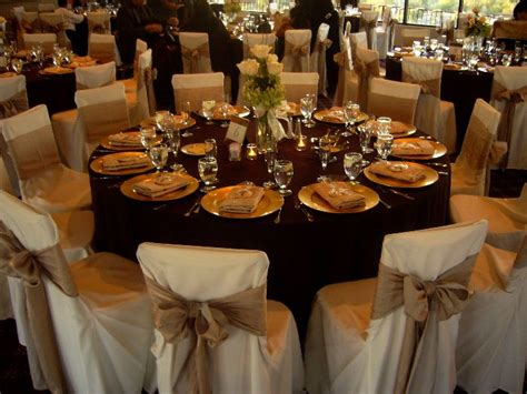 rustic outdoor wedding fall reception table decor wedding table setting chair covers
