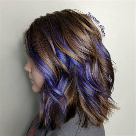 short hairstyles with peekaboo purple layer 33 cutest peekaboo highlights you ll ever see in 2018