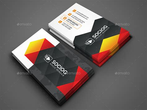 modern cards modern business card by axnorpix graphicriver