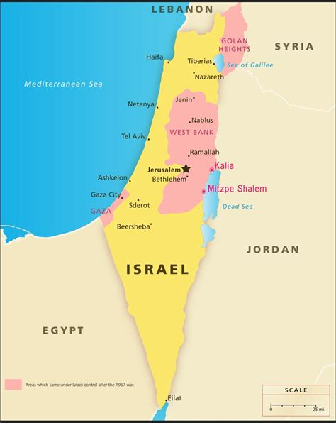 west bank map map of west bank and gaza