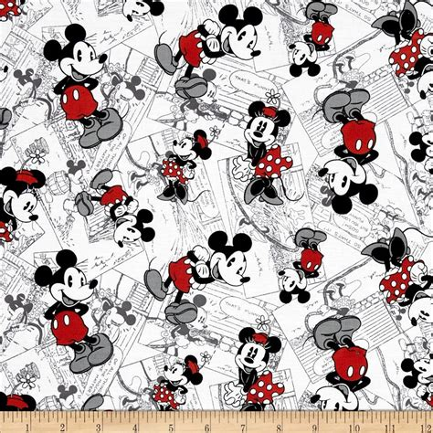 Mickey And Minnie Mouse Home Decor by Disney Vintage Mickey Comic Strip Character Toss Black Red