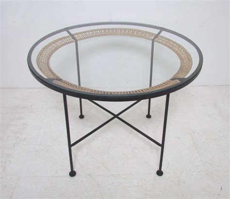 Glass And Iron Dining Table Wrought Iron And Glass Topped Dining Table By Arthur Umanoff At 1stdibs