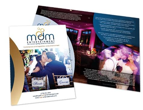Wedding Cards Entertainment Design Company by Wedding Dj And Event Company Marketing Materials