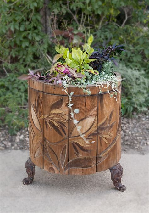 wooden flower planters reclaimed wood planter flower pot 1 custom by rushton llc