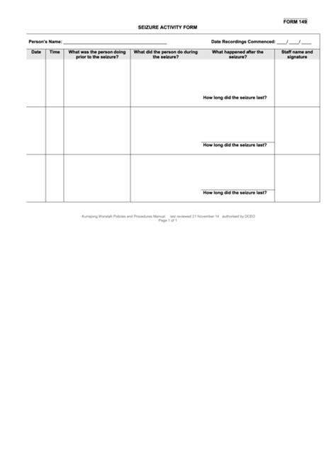 Top 6 Seizure Action Plan Templates Free To Download In Pdf Format Seizure Plan Template