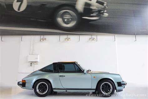 porsche targa green 1985 porsche 911 carrera classic throttle shop