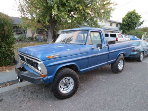 70 ford truck 70 1970 ford f100 4x4 bed v8 4 speed california