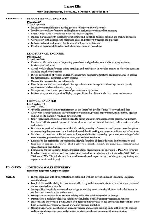 firewall engineer resume sles velvet