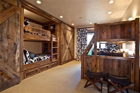 Barn Door Bunk Bed Bunk Beds With Barn Doors Marian Rockwood Design