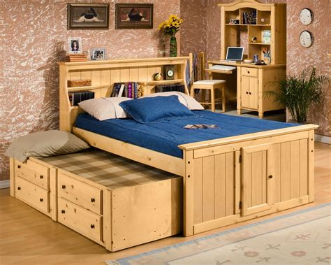 bookcase bed with trundle bookcase bed with trundle by trendwood wolf and