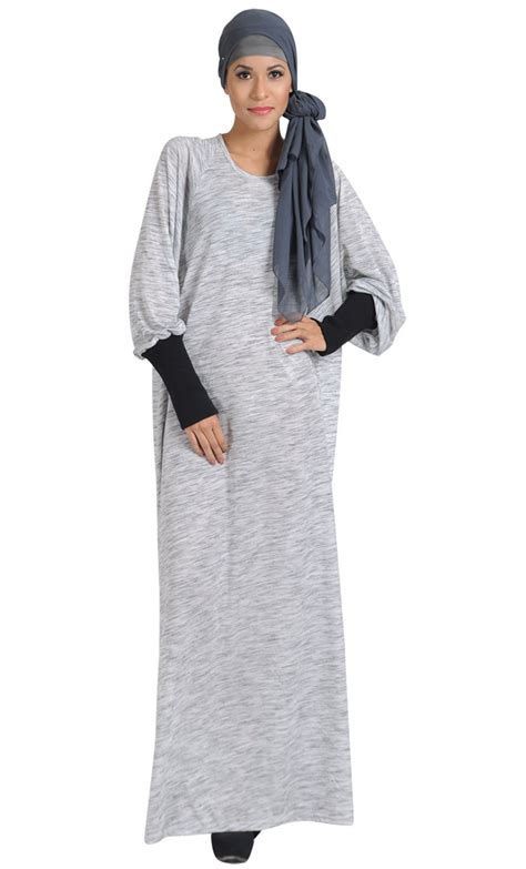 Wings Dress Dress Muslim Balotely Maxy polyester knitted bat winged abaya