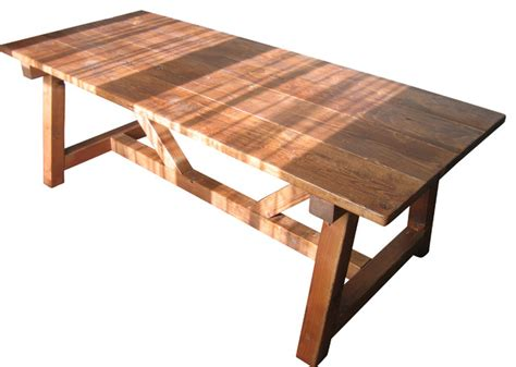 Farmhouse Trestle Dining Table Trestle Farmhouse Table Reclaimed Wood Farmhouse Dining Tables By Glenview Floor Works