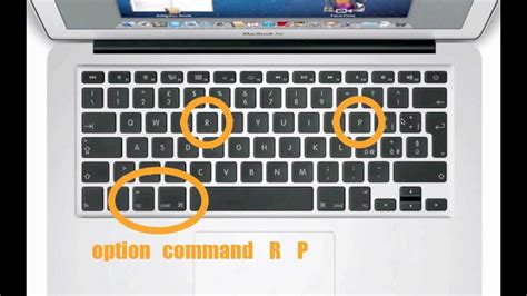 reset nvram on pc mac os x reimpostare pram e nvram youtube