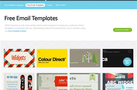 Best Free Email Templates 5 best free email marketing templates social media