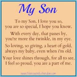 Happy birthday son poems to my son i love you so