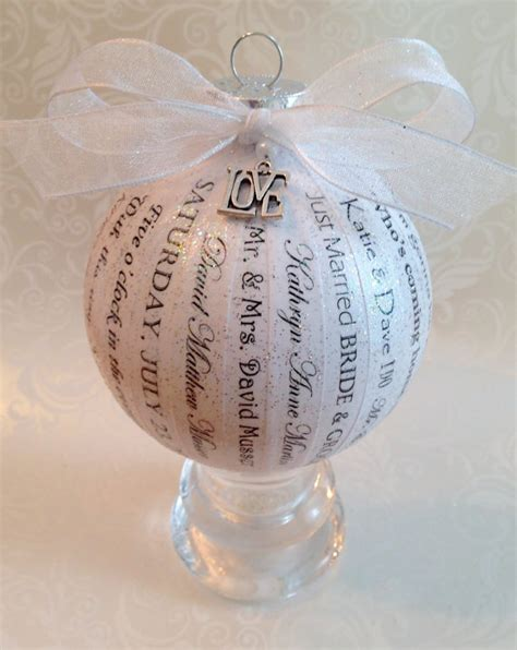 Wedding Ornaments by Personalized Wedding Ornament Wedding By Happythoughtsbykelly