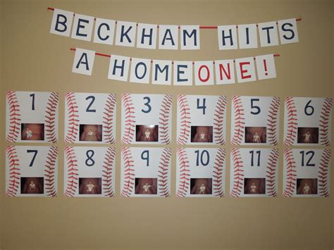 baseball themed first birthday party activities at each 1st birthday baseball theme beckham hits a homeone