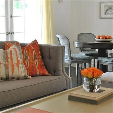 Gray Living Room With Orange Accents Living Room Design Decor Photos Pictures Ideas