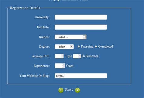 form design code in html javascript how to make my next button to submit form