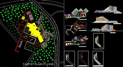 hotel project dwg full project  autocad designs cad