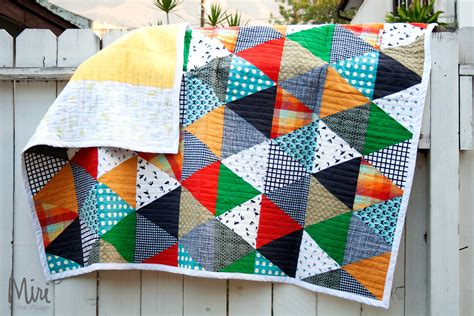 How To Make A Patchwork Quilt Out Of Baby Clothes - patchwork quilt tutorial miri in the