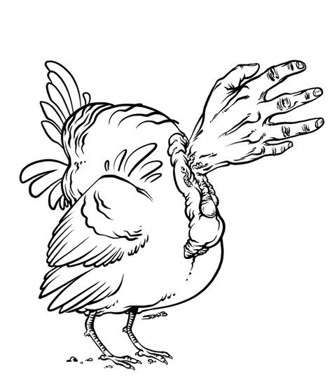 turkey hand coloring page turkey drawing template az coloring pages