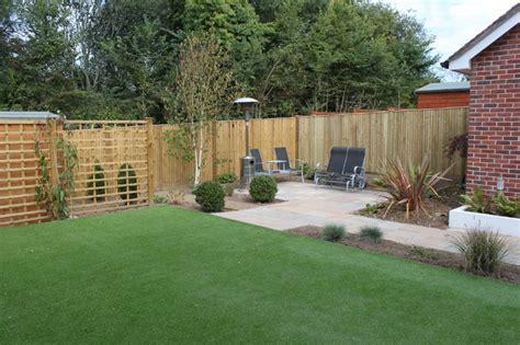 contemporary patio  artificial lawn  romsey