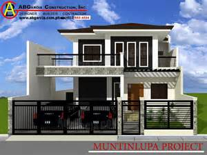 House Design Gallery Philippines by Two Storey Residence Muntinlupa City Project Ab Garcia