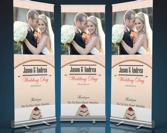 Wedding Roll Up Banner by Pull Up Etsy