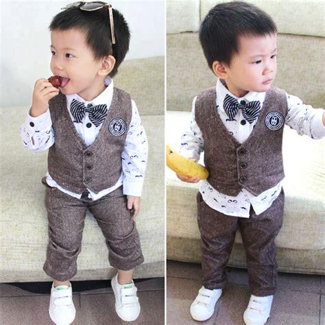Baju Jas Anak Laki Laki baru kedatangan bayi anak laki laki tuxedo suit rompi