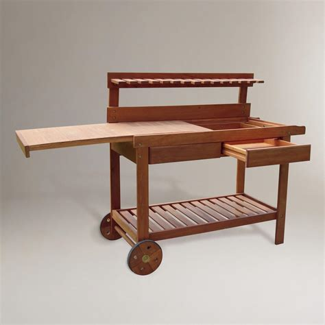 outdoor potters bench outdoor potting bench world market