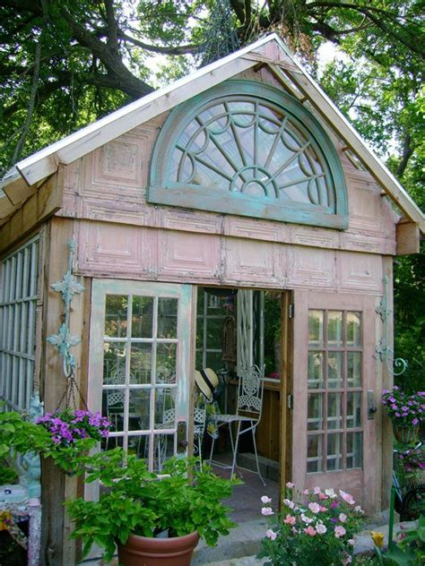 tin squares siding garden shed