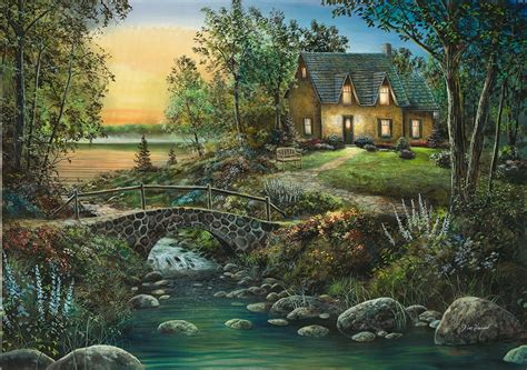 country cottage tile mural creative arts
