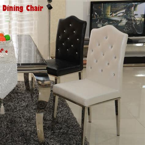New 100 Stainless Steel Leather Dining Chairs Fashion Stainless Steel Dining Room Chairs