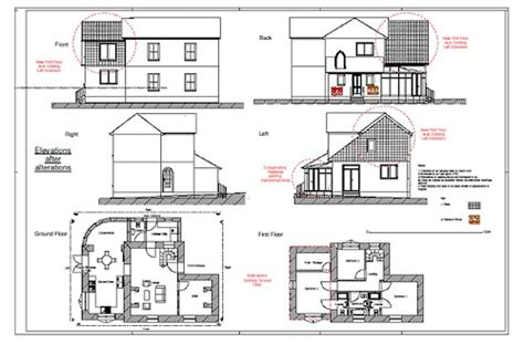 house with attic floor plan software for designing house extension and loft conversion
