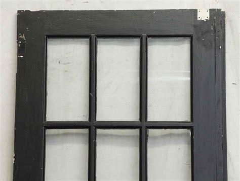 15 Glass Panel Door Black Wooden 15 Glass Panel Door Olde Things