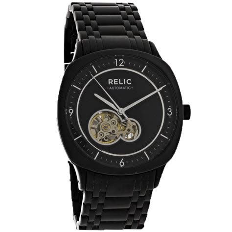Relic By Fossil relic by fossil mens black ion bracelet sport automatic zr77261 ebay