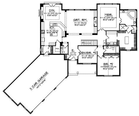 floor plan for a 940 sq ft ranch style home floor plans aflfpw01209 1 story ranch home with 3