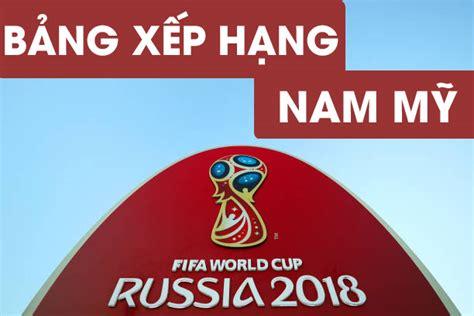 bảng xếp hạng v 242 ng loại world cup 2018 nam mỹ ng 224 y ph 225 n