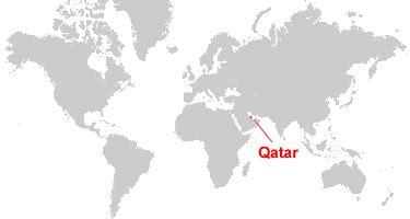 qatar in world map qatar map and satellite image