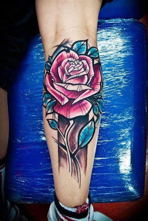 rose tattoo on calf best 25 calf ideas on calf