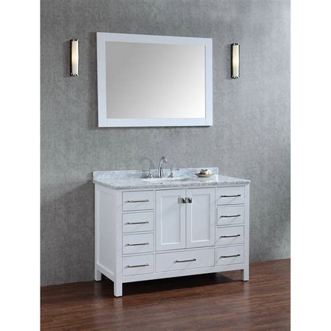 solid wood bathroom vanities buy vincent 48 inch solid wood single bathroom vanity in
