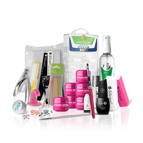 Starter Kit Kiosk 1set big nail manicure set silcare starter kit gel base one uv set silcare ebay