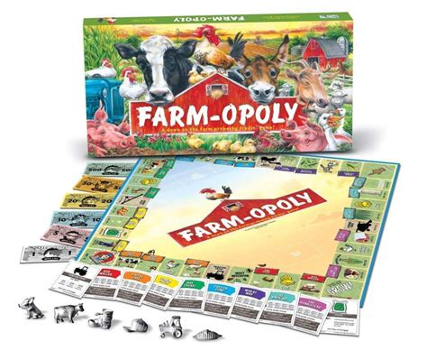 pug opoly ebay the farm opoly style monopoly board and the farm