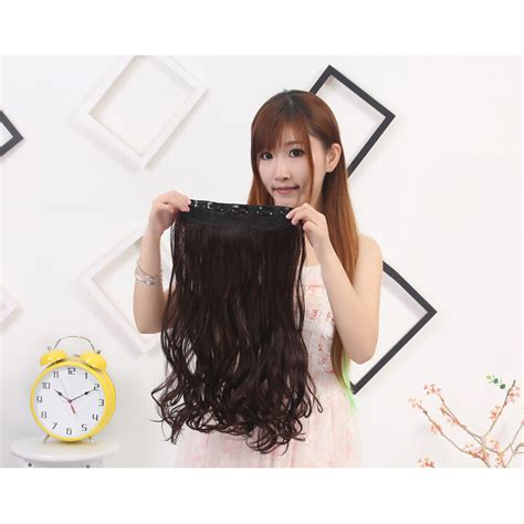hair extension clip wig rambut palsu 4a black