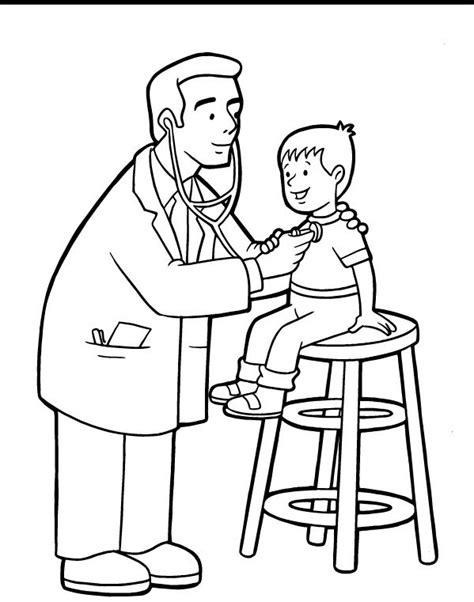 coloring pages doctor visit 60 best community helpers doctors vet images on