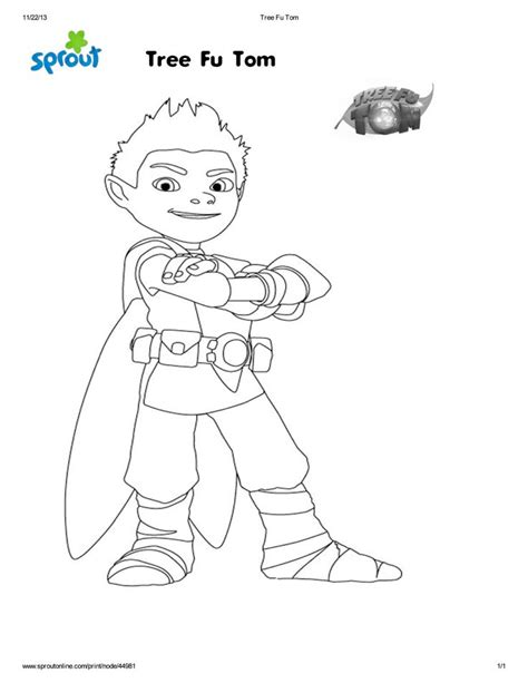 coloring pages tree fu tom fun coloring page for kids sproutmerrython clevergirls