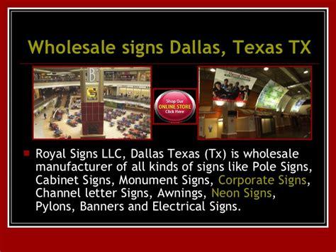 Sign Installation Dallas Tx Wholesale Signs