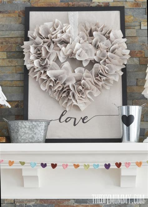 Valentines Day Diy Decorations by Our Neutral Valentine S Day Mantel Decor The Diy